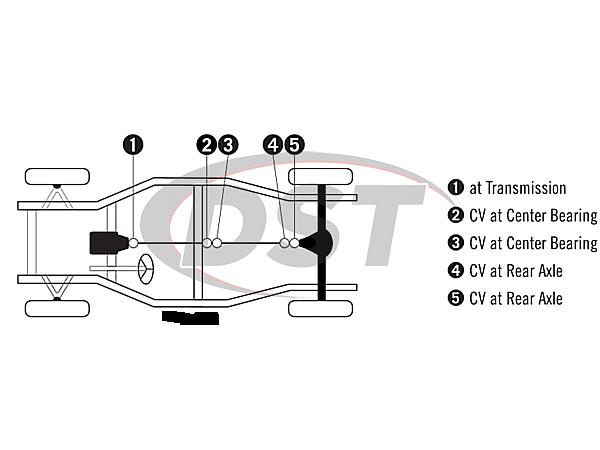moog-ujoint-packagedeal796 U Joint Package - Buick Riviera 64-70