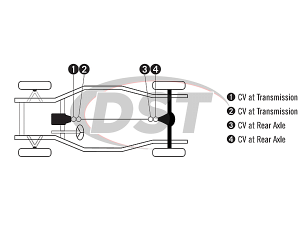 moog-ujoint-packagedeal811 U Joint Package - Cadillac Deville 68-81