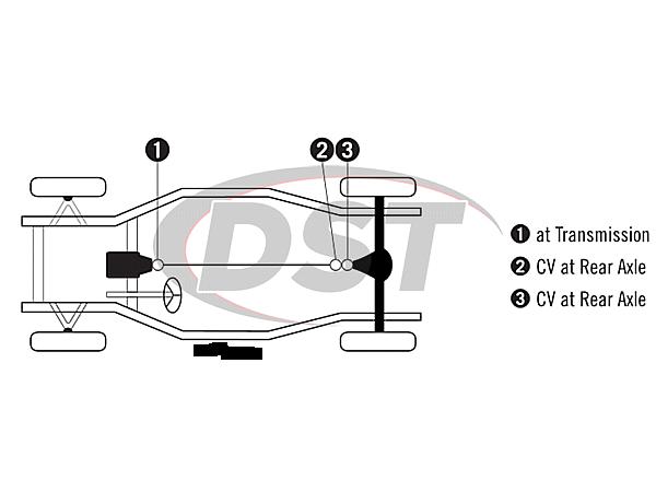 moog-ujoint-packagedeal828 U Joint Package - Chevrolet Bel Air, Caprice, & Impala 76-81