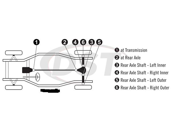 moog-ujoint-packagedeal851 U Joint Package - Chevrolet Corvette 71-79