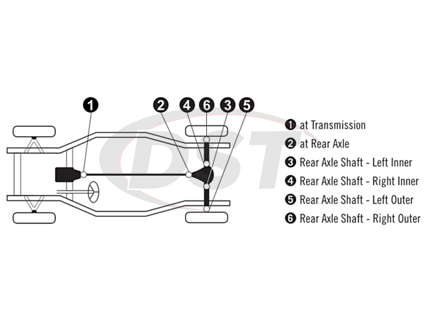 moog-ujoint-packagedeal852 U Joint Package - Chevrolet Corvette 68-70