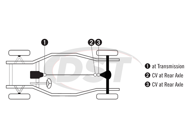 moog-ujoint-packagedeal894 U Joint Package - Ford Thunderbird 80-82