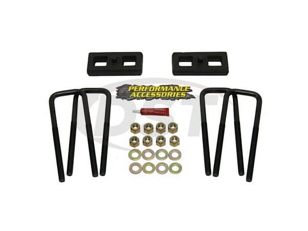 pabk01pa Rear Lift Blocks and U Bolts - 1 Inch