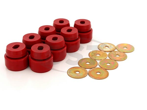 7141 Body Mount Bushings and Radiator Support Bushings - Fits American models only