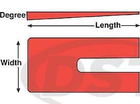 spc-10533 ZINC SHIMS 3 x 6 x 2.0