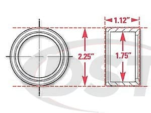 spc-15521 Weld In Receiver with Snap Rings | 1.75 Inch ID | 2.25 Inch OD | 1.12 Inch Width