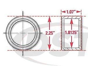 spc-15524 Weld In Receiver with Snap Rings | 1.8125 Inch ID | 2.25 Inch OD | 1.07 Inch Width