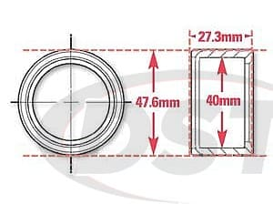 spc-15526 Weld In Receiver with Snap Rings | 40mm ID | 47.6mm OD | 27.3mm Width