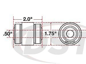 spc-15607 xAxis Sealed Flex Joint - 0.50 ID - 1.75 OD - 2.0 Length