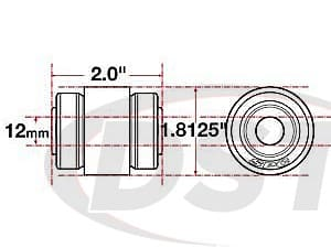 spc-15615 xAxis Flex Joint - 12mm ID - 1.8125 OD - 2.0 Length