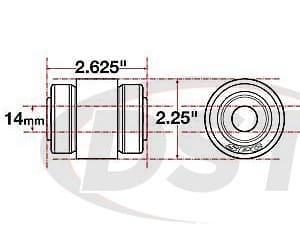spc-15619 xAxis Flex Joint - 14mm ID - 2.25 OD - 2.625 Length