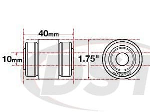 spc-15625 xAxis Flex Joint - 10mm ID - 1.75 OD - 40mm Length