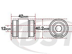 spc-15627 xAxis Sealed Flex Joint - 12mm ID - 40.2mm OD - 42mm Length