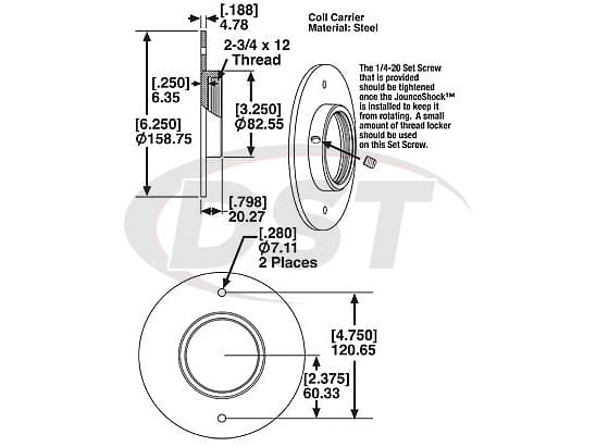 spc-25508 END MOUNT and ADAPTOR ASSY