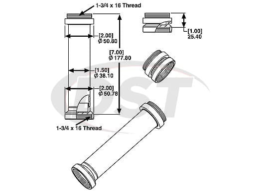 spc-25603 END MOUNT and ADAPTOR ASSY