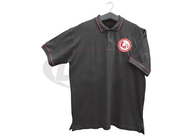 spc-63010l BLACK POLO SHIRT-LARGE