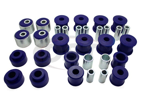 kit060adjk Front and Rear Radius Arms and Panhard Rods Bushing Kit - Offset