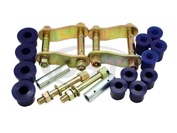 Rear Greaseable Shackle Bushings and Hardware Kit