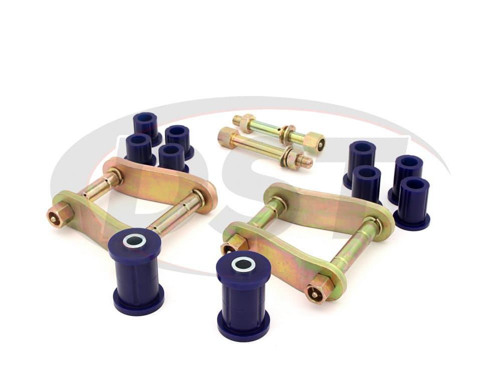 kit096sk Rear Greaseable Shackle Bushings and Hardware Kit