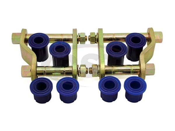 kit141rsk Rear Greaseable Shackle Bushings and Hardware Kit - Rear Position