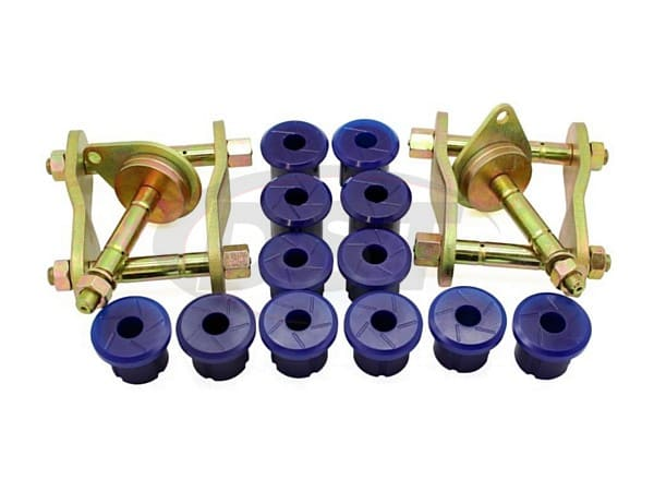 kit156sk Rear Greaseable Shackle Bushings and Hardware Kit