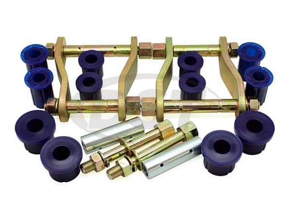 kit185sk Rear Greaseable Shackle Bushings and Hardware Kit