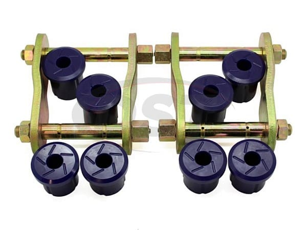 kit193rsk Rear Greaseable Shackle Bushings and Hardware Kit - Rear Position