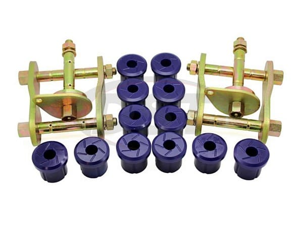 kit193sk Rear Greaseable Shackle Bushings and Hardware Kit