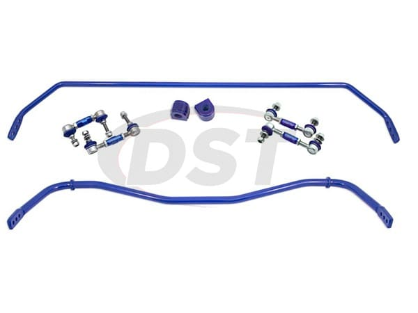 rcmx5089kit Front and Rear Heavy Duty Sway Bar and Endlink Kit - 24mm Front - 16mm Rear - 3 Point Adjustable