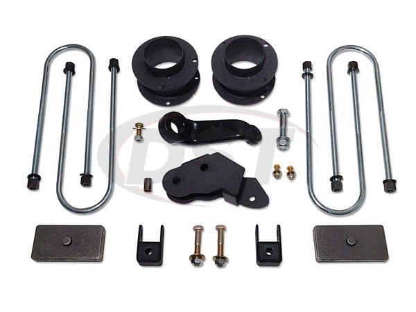 Complete Lift Kit (w/o Shocks) - 3in standard lift kit with coil spring spacers and rear blocks