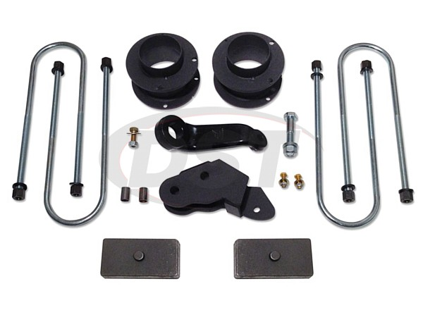 Complete Kit (w/o Shocks) - 3in standard lift kit with coil spring spacers and rear blocks