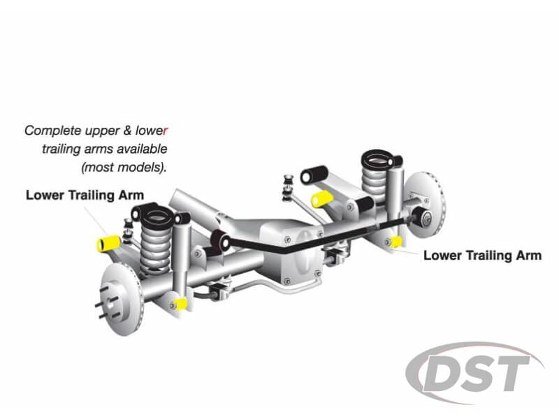 w63352 Rear Trailing Arm Bushings - Lower Position