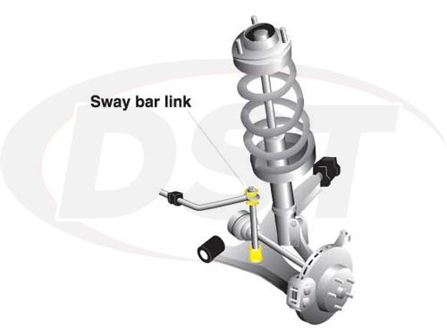 klc167a Front Sway Bar End Link Kit - Adjustable 320-345mm