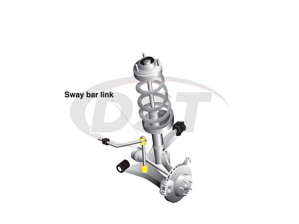 klc175 Front Sway Bar End Link Kit - Adjustable 310-335mm