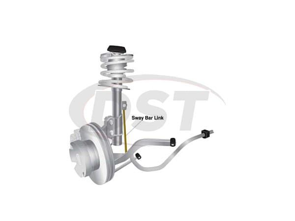 klc179 Front Sway Bar End Link Kit - Adjustable 200-250mm
