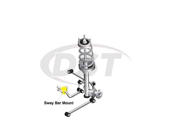 w0406-22g Rear Sway Bar Bushing - Greaseless - 22MM (0.86 inch)