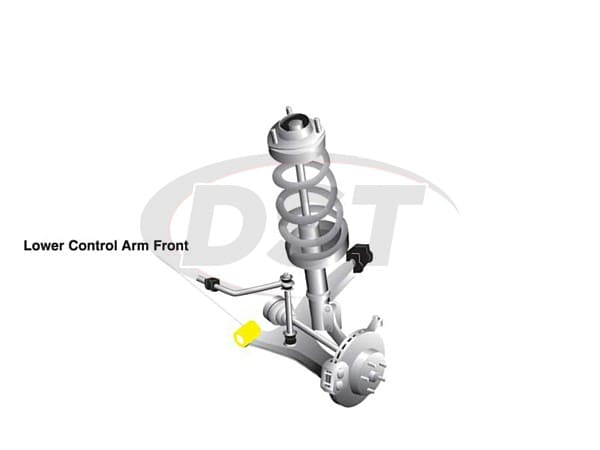 w0503 Front Control Arm Bushings - Lower Inner Front Position