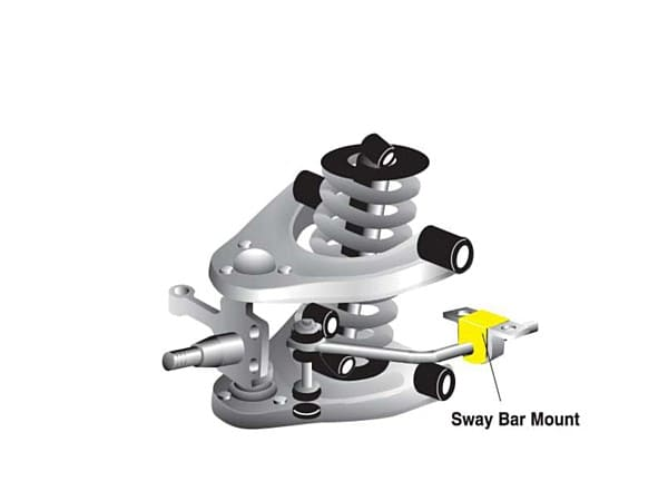 w23406 Front Sway Bar - 19mm (0.74 inch)