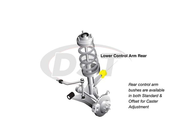 w51459 Front Lower Control Arm Bushings - Inner Rear Position