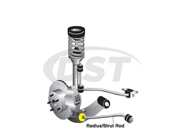 w52906 Front Radius Rod Bushings - To Control Arm Heavy Duty