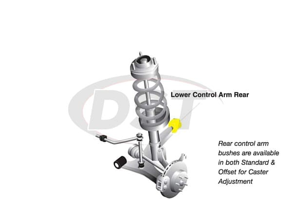 w53425 Front Lower Inner Control Arm Bushings -  Rear Position