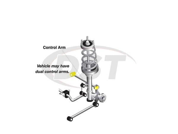 rear control arm bushings - mazda 323