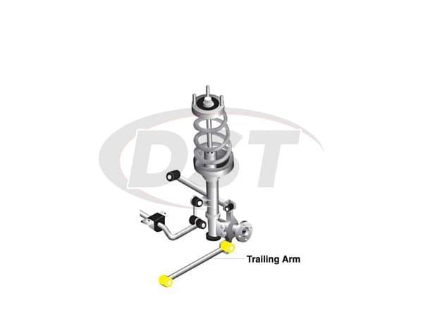 w63222 Rear Trailing Arm Bushings - Lower Position