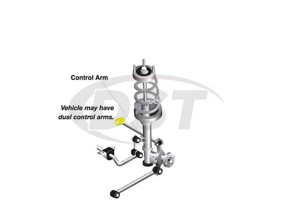 w63321 Rear Lower Control Arm Bushings - Rear Position