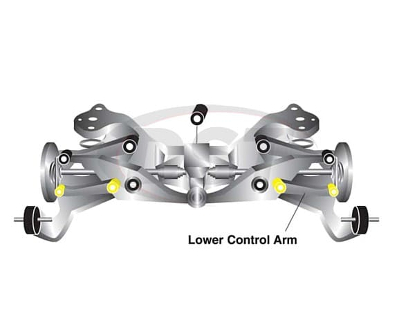w63345 Rear Toe Link Bushings - Inner and Outer Positions