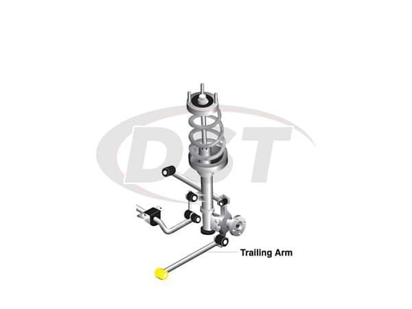 w63398 Rear Trailing Arm Bushings - Lower Front Position