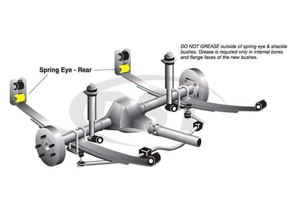 w71136 Rear Leaf Spring Bushings - Rear Eye - While Supplies Last