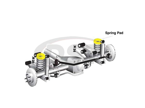 w73404 Front Coil Spring Isolator - 30mm Lift