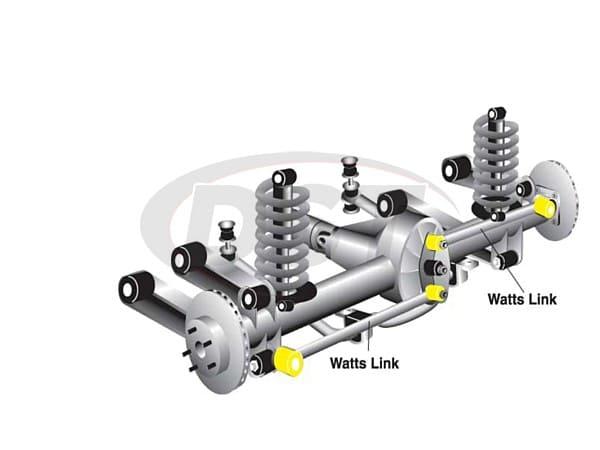 w81273 Rear Watts Link Bushings - Side Rods
