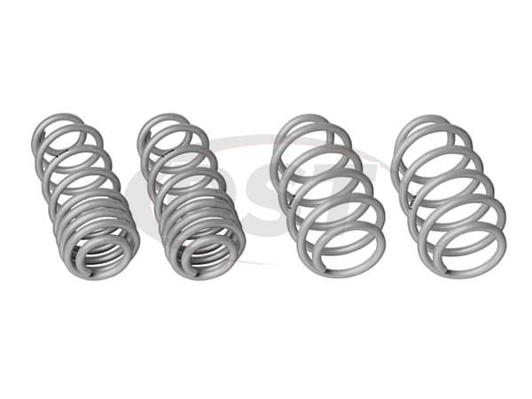 wsk-vwn002 Complete Lowering Coil Spring Set - Front and Rear Lowering - 25mm (0.98 Inch)